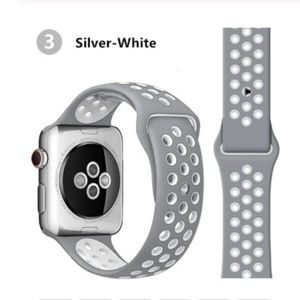 NEW Silver White Sport Band For Apple Watch